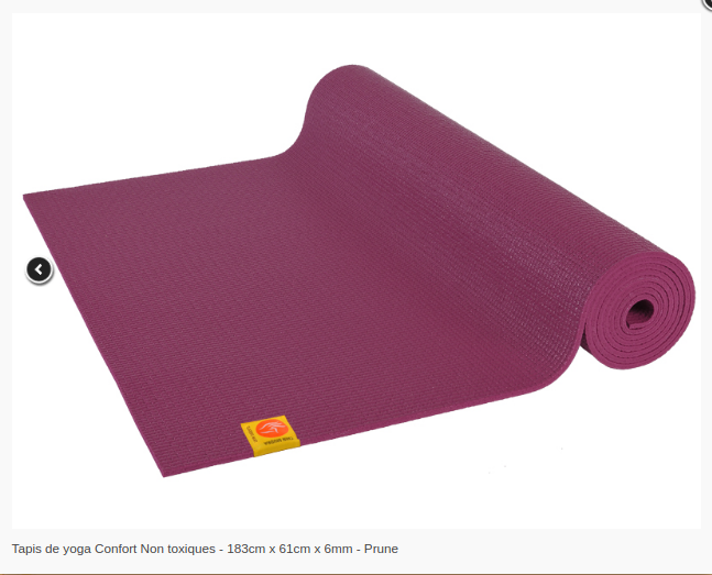 Tapis de yoga Non toxique- 6mm-Chinmudra- Prune
