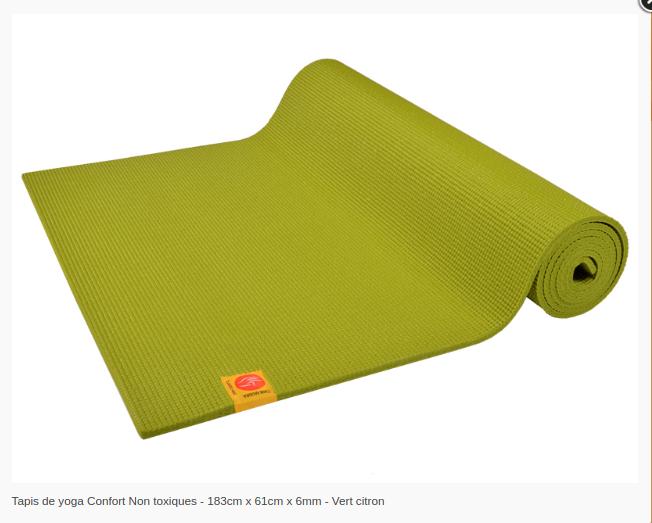 Tapis de yoga Non toxique- 6mm-Chinmudra- vert Citron