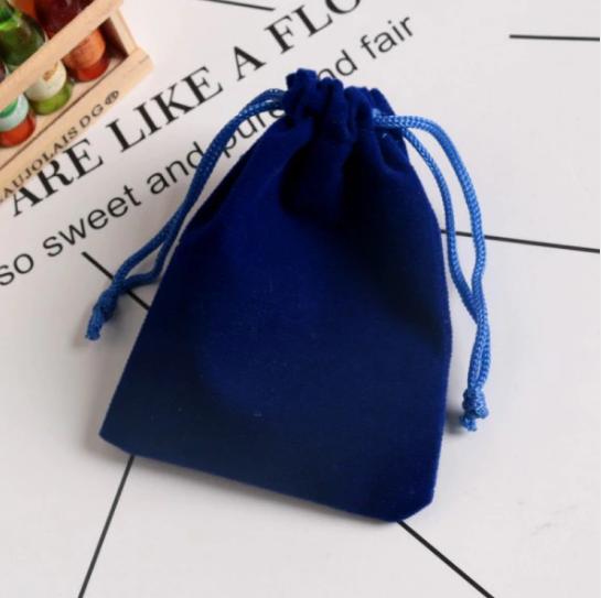 Pochette «Lalanā » en Velours - 8x10 cm ou 9x12 cm-bleu cobalt