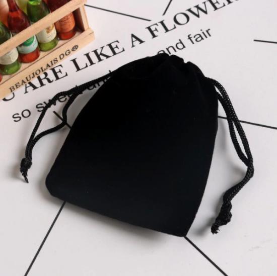 Pochette «Lalanā » en Velours - 8x10 cm ou 9x12 cm-noir