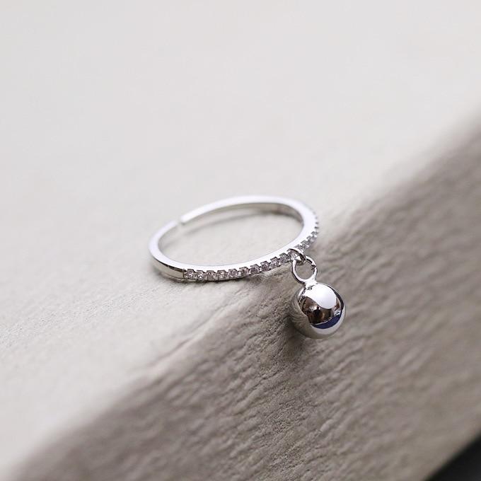 Nouveaut-925-en-argent-Sterling-petite-boule-pendentif-anneaux-pour-les-femmes-bijoux-mode-ouverte-r