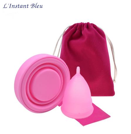 Coupe menstruelle Pastel en Silicone de qualité médicale + Boîte + Pochette-0.1.2