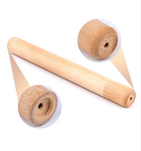 Brosse à dents de voyage + Boîte cylindre en Bambou naturel-14