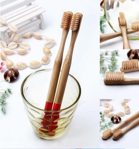 Brosse à dents «Anūpa» manche coloré, en Bambou naturel-11