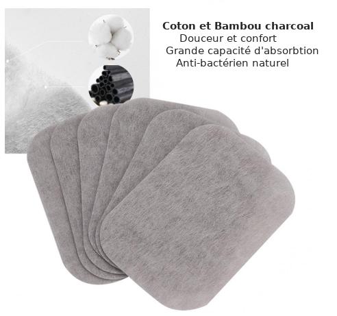 Boîte de 200 Lingettes démaquillantes Anti-bactériennes, lavables en fibres de Bambou-5