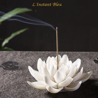 Porte Encens «Kāmāla» Fleur de Lotus en Céramique