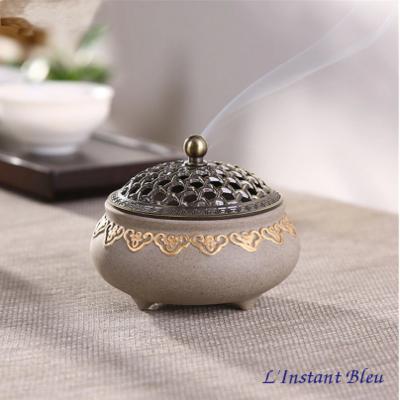Brûleur d'Encens traditionnel en céramique « Gandḥā »