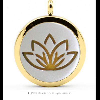 Pendentif diffuseur d'Huiles essentielles «Sûtra du Lotus»