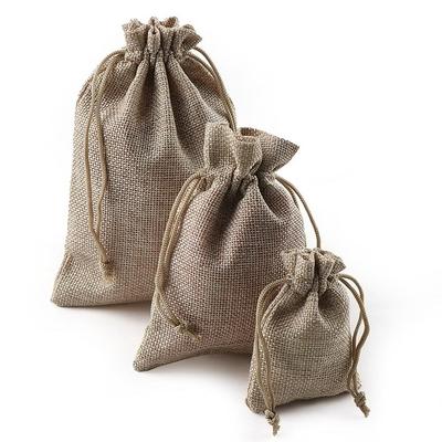 Lot de 10 Pochettes cadeau « Asaṃskṛtā » en Toile de jute et Coton
