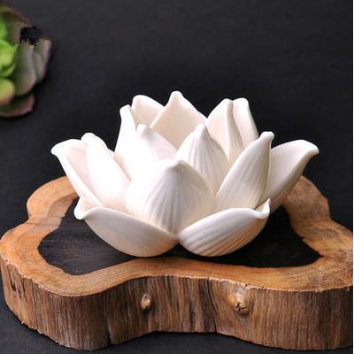 Bougeoir en Céramique «Fleur de Lotus»
