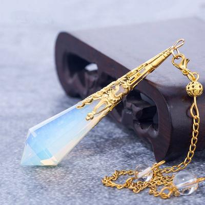 Pendule de soin énergétique «Wicca»en Opale précieuse