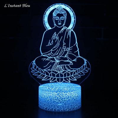 Lampe Led hologramme Bouddha Bleu «Nīlakaṇṭha »