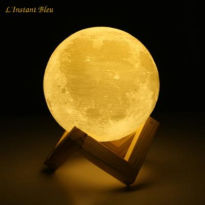 Lampe Lune 3D Tactile «Chaṇdravandā»