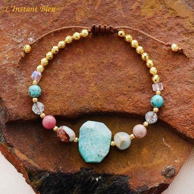 Bracelet bohème «Annā» Esprit lumineux – Amazonite et perles naturelles
