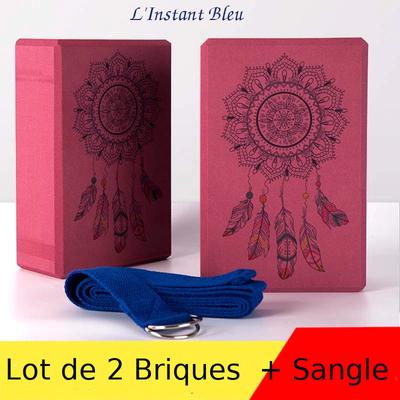 Lot de 2 Briques de Yoga « Saṃsāra » Mandala + Sangle