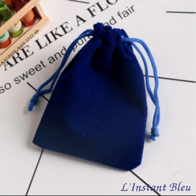 Pochette « Mīra » en Velours Bleu cobalt - 5,5x7 cm