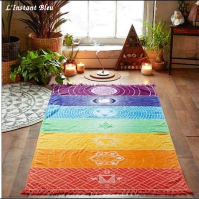 Tapis de Méditation 7 Chakras en Coton
