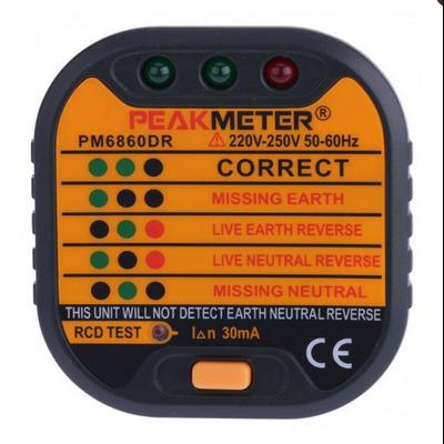 Testeur de prise Automatique PEAKMETER PM6860DR