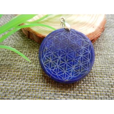 Pendentif Lapis Lazuli  «Fleur de Vie»