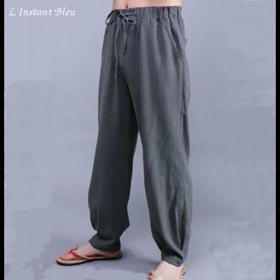 Pantalon de Yoga «Vulcano» en Lin
