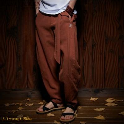 Pantalon de Yoga « Dharma» Lin et Coton
