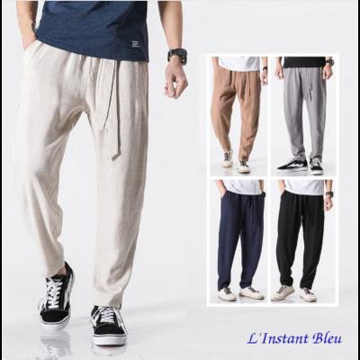 Pantalon de Yoga «Macao» en Coton naturel