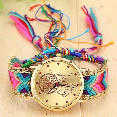Montre-Bracelet Ethnique «Turīya» Attrape-rêve