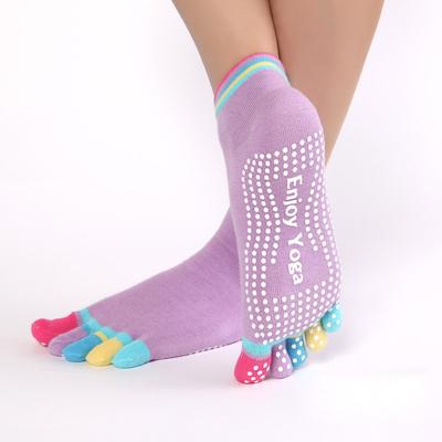 Chaussettes de Yoga antidérapantes Pastel «Lila»