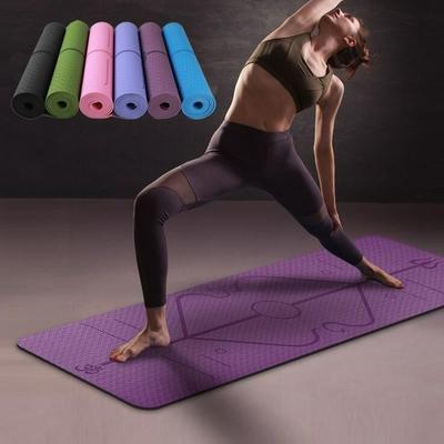 Tapis de Yoga «Triśūla » Alignement - avec Sac de transport  183 x 61 cm – 6mm d'épaisseur
