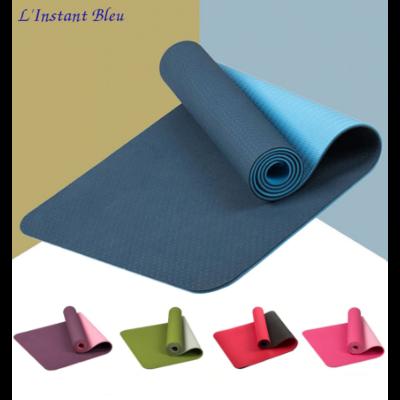 Tapis de Yoga bicolore «Maṇipūra» avec Sac de transport  183 x 61 cm – 6mm d'épaisseur