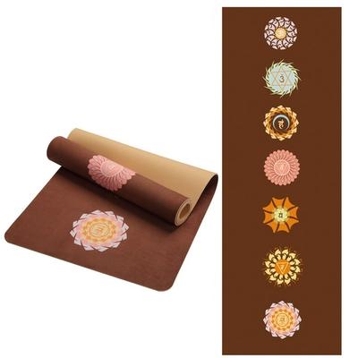 Tapis de Yoga «Bīja» 7 Chakra, Mandala et Nature – 183 x 61 cm – 5 mm d'épaisseur