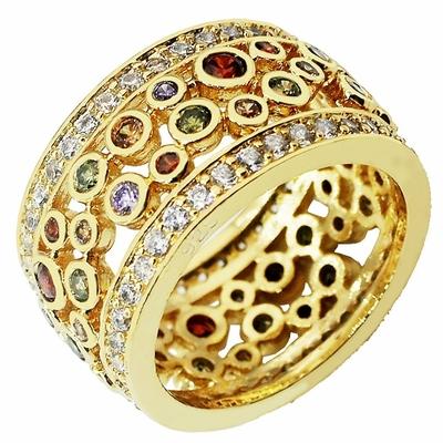 Bague-anneau vintage «Saṅkalpa» Or sur Argent