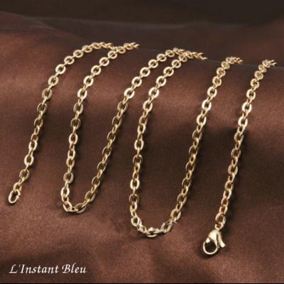 Longue Chaîne «Bîja» en Plaqué or – 114 cm