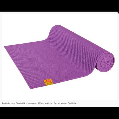 Tapis de yoga Non toxique - 183cm x 61cm x 6mm