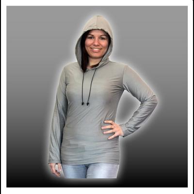 Sweat-Shirt à capuche Anti ondes en tissu Silver-Elastic