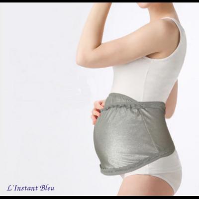 Bandeau de grossesse Anti-ondes - Silver élastic