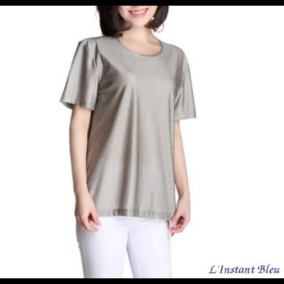 Tee-shirt Homme ou Femme « Indu» Anti-ondes en Fibres d'argent