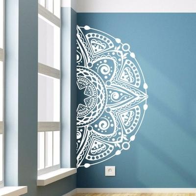 Grand Sticker mural Demi Máṇḍala «Fleur de Nirvāṇa»
