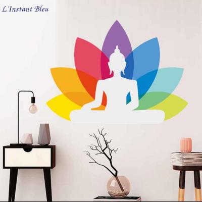 Sticker mural «BouddhaŚṛṅga» 7 Chakra