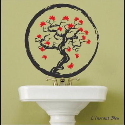 Sticker mural «Dharmakāya» Arbre Zen