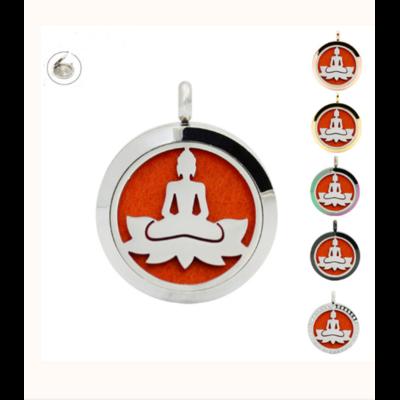 Pendentif diffuseur d'Huiles essentielles «Bouddha» avec chaîne
