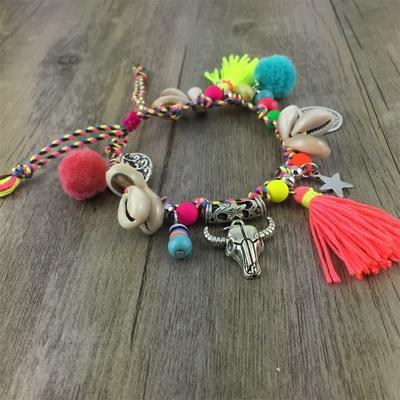Bracelet Boho de cheville ou main «Gomukhā» en 3 couleurs