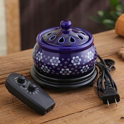Brûle-parfum électrique «Prasāda» pour Encens résine, grains, poudre et Huiles Essentielles