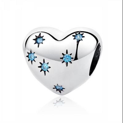 Charm «Anāhata» Coeur cosmique en Argent Sterling