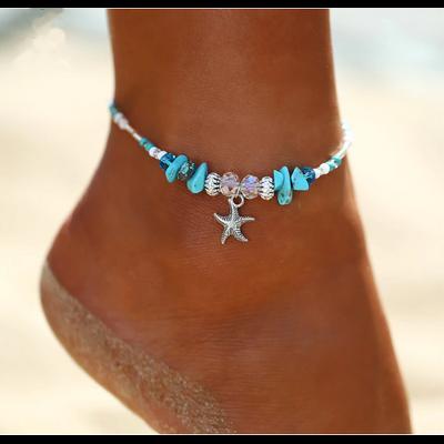 Bracelet de Cheville Bohème «Sarasvān» Esprit de la Mer