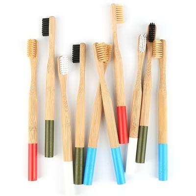 Brosse à dents «Anūpa» manche coloré, en Bambou naturel