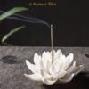 Porte Encens «Kāmāla » Fleur de Lotus en Céramique-1