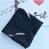 Marte-Joven-mode-dor-plume-broderie-noir-blanc-charpe-pour-femmes-marque-de-luxe-doux-Polyester