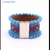 Bracelet Boho «Vishākhā » Esprit lumineux en Cuir végan-5.1