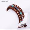 Bracelet Ethnique « Dakṣā » Esprit Bohème en Cuir végan-4.1